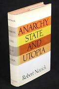 Robert Nozick / Anarchy State And Utopia First Edition 1974