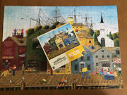 Hometown Gallery Crows Nest Harbor 1000 Pc Nautical Puzzle Art Poulin Complete