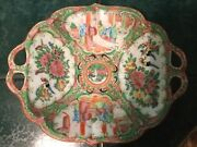 Antique Chinese Porcelain Bowl/ Plate With Birds And Flowers Rare