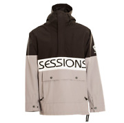 Sessions Chaos Pullover Anorak Black Mens 10k 2021 Snowboard Jacket
