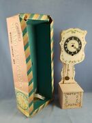 Vintage Straco Grandfather Clock Musical Jewelry Box With Box As Found For Parts