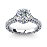 0.85 Ct Real Diamond Engagement Ring Solid 950 Platinum Band Size 5 6 7 8