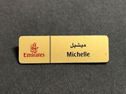 Official Emirates Airline Cabin Crew Name Badge Collectible Name Tag Michelle