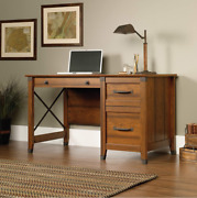 Home Office Desk Computer Writing Rustic Student Secretary Cherry Wood Antique