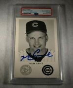 Rare Mark Grace Signed Illinois State Police Postcard-chicago Cubs-psa Slabbed