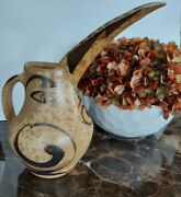 Johnston And Gentithes Art Pottery Seagrove Nc Bird Pitcher Extremely Rare Vhtf