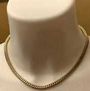 """Gold Tone Omega Style Choker Chain Necklace 17"""" Magnet Clasp"""