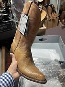 Luccehese Classics Handmade Size 12d Lizard Kips Leather Round Toes Menand039s New