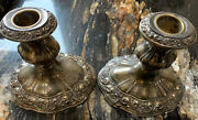 Poole Silver Company Silver Plated Candlesticks