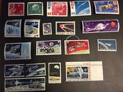 Space Age 20 Stamp Lot China, Ddr, Poland, Togo, Russia, United States 1958-1979