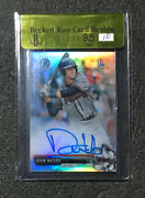 2016 Bowman Chrome Drew Waters Prospect Refractor Auto /499 Bgs 9.5 10 Braves