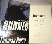 Signed Thomas Perry Autographed Book Runner Hard Cover Hc Plastic Dj 2009