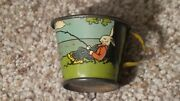 Antique Ohio Art Peter Rabbit Tin Litho Tea Set Cup Toy Early Old Usa Nice One