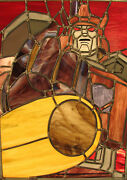 Transformers G1 Decepticon Galvatron Leaded Stained Glass Panel