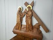 Stations Of The Cross - Famous Religious Catholic Wood Carving Mother And Son Iv