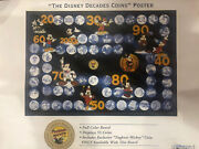 """""""very Rare"""" The Complete Disney Decade Coin Book Album With """"all Coins"""""""