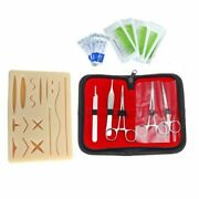 Skin Suture Practice Silicone Pad With Wound Simulated Training Kit Teaching