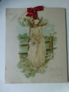 Antique James Francis Day Water Color Prints In Calendar Dated 1985 Original