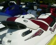 Seadoo Gtx Blacktip Burgandy Wht. Seat Cover 1996-1999 Gti And Black Groove Mats