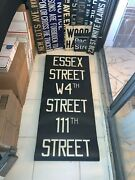 Vintage Ny Nyc Subway Roll Sign Essex Street West 4th Museum Washington Square