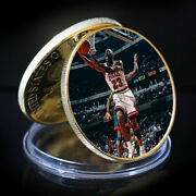 Michael Jordan Famous Person Coin 24k Gold Plated Coin