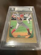 2011 Bowman Draft Gold Mike Trout 101 Rc Bgs 9 Pop 16 None Higher Top Sports
