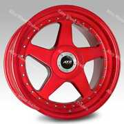 18 Red Ayr 04 Alloy Wheels Fits 5x108 Land Rover Discovery Sport Freelander 2