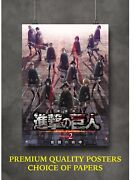 Attack On Titan 2 Anime Movie Art Large Poster Print Gift A0 A1 A2 A3 A4 Maxi
