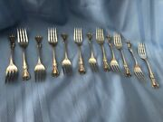 Towle Old Colonial C 1895 Twelve Salad Forks 6 1/4 Super Condition