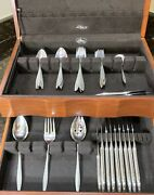Sterling Silver Silverware Set 49 Piece Wallace .925 Spanish Lace Vintage
