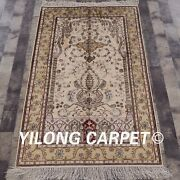 Yilong 3and039x5and039 Small Size Handknotted Silk Carpet Oriental Classic Area Rug 327b