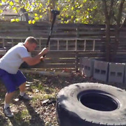 Crossfit Workout Tire + 10lb Sledge Hammer