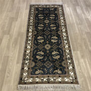 Yilong 2.5and039x6and039 All Over Handknotted Silk Long Hallway Carpet Rug Runner 237ab
