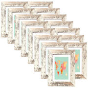 Set Of 15 Wooden 5x7 Picture Frames Mat 4x6 Photo Frame Tabletop And Wall Art