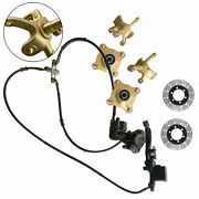 Front Steering Knuckle Spindle+wheel Hub +brake Assembly+disc Rotor 125cc-250cc
