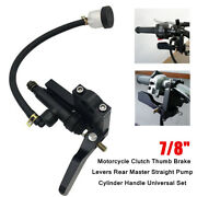 7/8and039and039 Motorcycle Clutch Brake Levers Master Straight Pump Cylinder Handle Part