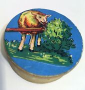 Antique Squeeze Germany Push Toy Sheep Eating Tree Grass Greener .. Childs Toy