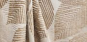 3 Yds Robert Allen Zara Sand Tropical Palm Leaf Thick Chenille Upholstery Fabric