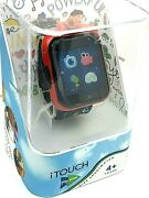 Itouch Play Zoom Kids Smartwatch Games Camera Interactive Red Black Rubber Band