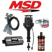 Msd Black Ignition Kit Digital 6a/distributor/wires/coil/ - Ford 351w Small Cap