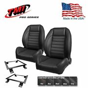 Tmi Pro Series Complete Bucket Seat Set + Rear Upholstery 1972-73 Mustang Coupe