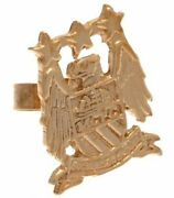 Manchester City Fc 9ct Gold Stud Earring Butterfly Back Official Product
