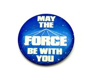 Vtg 1977 Star Wars May The Force Be With You 3 Pinback/button By Factors Etc