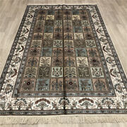 Yilong 5and039x8and039 Handmade Silk Area Rugs Garden Scenes Kid Friendly Carpets 023b