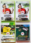 Lot Of 4 Tiger Woods Pga Tour 10 12 13 Masters Collectors Edition Xbox 360 Ps3