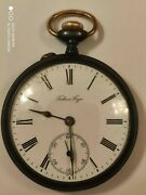Paul Buhre Antique Wwi Imperial Russia Steel Poсket Watch 49.5 Mm Working