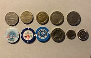 Assorted Casino Locations Gambling Coin Lot Of 11