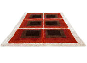 5 X 7 Mid Century Modern Rya Style Shag Rug Works W/ Teak Lounge Chairs And Tables