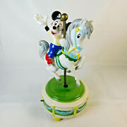 Vintage Schmidt Disney Mickey Mouse Carousel Horse Music Box Club March 9
