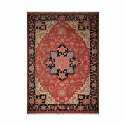 11and03911and039and039 X 17and03910and039and039 Rare Romanian Hand Knotted 100 Wool Seraapi Area Rug Coral